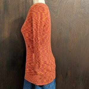 Hannah Tops - Hannah Woman's Fitted Long Sleeve Shirt, Orange